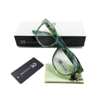 EYEGUARD Modern Green Reading Glasses