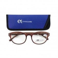 EYEGUARD Fashion PC Frame Brown Reading Glasses